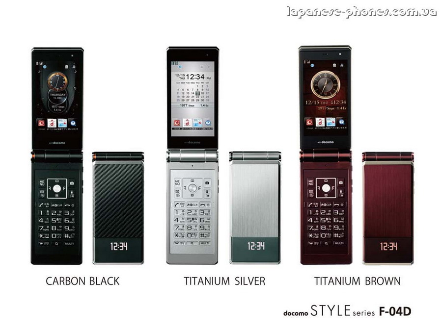Японский телефон DoCoMo Fujitsu STYLE F-04D